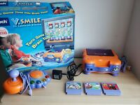 Vtech V.Smile TV Learning System W/ Joystick and Games Open Box Complete w/games