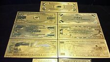 14 Pc. Lot- 7 Gold And 7 Silver~$1 Billion-$500 Banknote Rep.*Free Ship