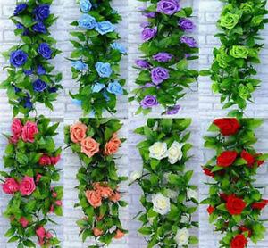 94 inch Rose Garland Artifical Silk Flower Vine Wedding Party Garden Decor