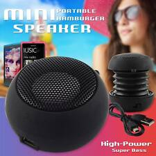 Black Mini Portable Travel Bass Speaker for iPod iPhone iTouch iPad MP3 – By DIG