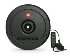 """JBL BassPro Hub 11"""" Spare Tire Sub with Built-in 200W RMS Amp & Remote Control."""