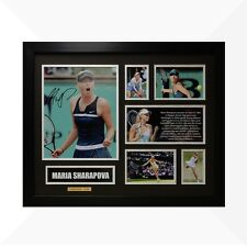 Maria Sharapova Signed & Framed Memorabilia - Black/Silver Limited Edition