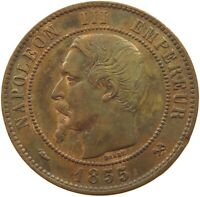 FRANCE 10 CENTIMES 1855 B #rz 085