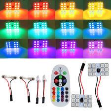 CC 12V T10 5050 12 LED SMD RGB telecomando dell'automobile