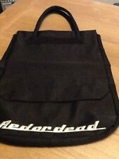 Red or Dead black nylon shopper style bag