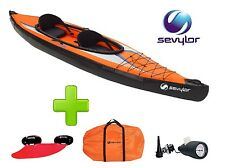 CANOA KAYAK 2 POSTI SEVYLOR K2 POINTER ORANGE GONFIABILE CON BORSA TRASPORTO