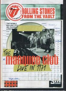ROLLING STONES From The Vault LIVE Marquee Club 1971 DVD NEW/SEALED Free Post