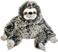 """The Petting Zoo Super Soft Frosted Brown 15"""" Three-Toed Sloth Stuffed Animal Toy"""
