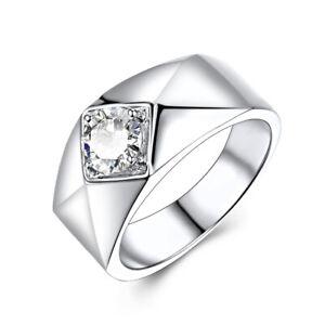 Anniversary Flawless Ring 6.5mm Round Cut Cubic Zirconia Gemstone 14k White Gold