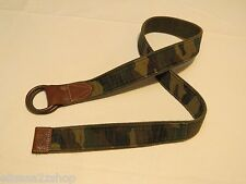 Polo Ralph Lauren belt S small rugby olive green camo 405516974001 Men's NEW
