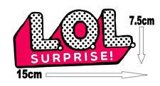LOL Surprise Edible Icing Logo Cake Decor