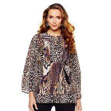 Women's Regular Animal Print Long Sleeve Sleeve Tunic Tops & Blouses