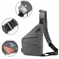 Sling Canvas Chest Pack Crossbody Anti Theft Shoulder Men's Bag Business Travel