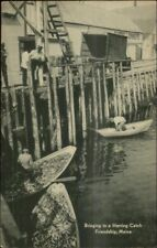 Friendship Me Herring Fishing Dock Postcard