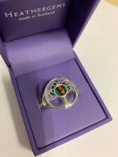 HEATHERGEMS TREE OF LIFE RING GREEN SILVER PLATED BRAND NEW