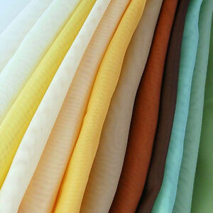 """Plain Woven Voile Net Curtain Fabric - 150CM / 58"""" Wide - Sold By the Metre."""