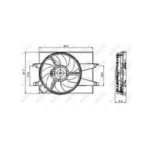 Fits Ford Fusion 1.4 Genuine NRF Engine Cooling Radiator Fan