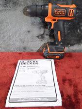 "Black+Decker BDCD112 12-Volt Cordless 3/8"" Drill  w/ Battery (No Charger) #1135"