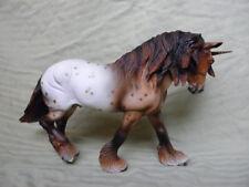 Breyer Horse Statue OOAK CM/Custom Unicorn Wintersong Roan Appaloosa