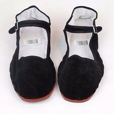Women's Chinese Classic Mary Jane Velvet Shoes in Black Sizes 35 - 41 New