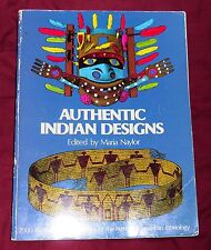 Dover Pictorial Archive: Authentic Indian Designs (1975, Paperback, Reprint)