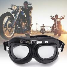 Vintage Style Motorcycle & Bicycle Scooter ATV Helmet Goggles Eyewear Gery Lens