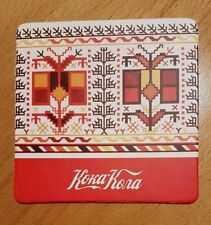New LTD. COCA-COLA Bulgarian Traditional Embroidery Patch Motives COASTER rare