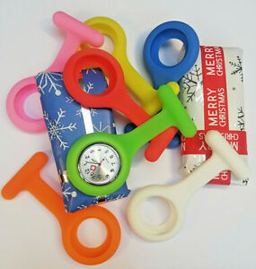 Nurses Silicone Tunic Fob Watch with 5 Cases - Optional Gift Wrap