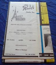 BR1662 Vtg 1958 Quebec Tourist Travel Road Map