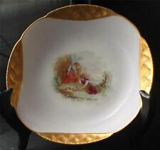 Antiqe HAVILAND Limoges Signed Walker Hand Painted Gold COUNTRY SCENE Candy Bowl