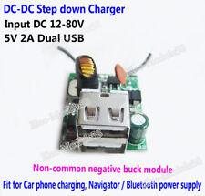 DC 12-80V To 5V 2USB Buck Converter Step down Power supply Module/ Car GPS Phone
