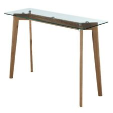 Convenience Concepts Clearview Console Table, Natural/Glass - 111699