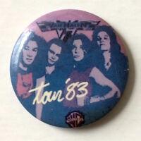 "Vintage VAN HALEN 1983 WB promo tour badge pin button Eddie David Lee Roth 1.25"""
