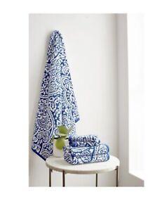 Martha Stewart 4-Piece Bath Towel Set (Blue Colors) 2 16in X 28in 2 13in X 13in