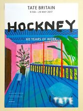 """RARE DAVID HOCKNEY LITHOGRAPH PRINT """"60 YEARS OF WORK"""" TATE MUSEUM EXHBT POSTER"""