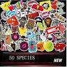 50PCS Vinyl Skateboard Guitar Travel Case Stickers Pack Decal Random sticker