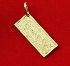 NEW 9ct Yellow Gold American Dollar Charm 375 Money Pendant 3D Reversible 9KT