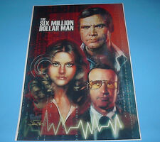 THE SIX MILLION DOLLAR MAN & BIONIC WOMAN WITH OSCAR GOLDMAN POSTER PIN UP