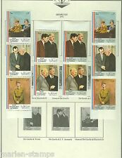 SHARJAH CHARLES de GAULLE &  J F. KENNEDY  SET PERF AND IMPERF MINT HINGED