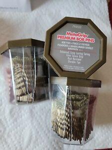 3 Box's Of MetaGrip Premium Hair Pins, Bronze