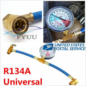 1x Universal Metal R134A Recharge Measuring Refrigerant Hose Adapter