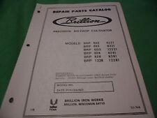 Drawer 16 Brillion Precision Ro Crop Cultivator Brp Repair Parts Catalog