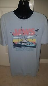 JAWS THE MOVIE AMITY ISLAND MENS T-SHIRT (SIZE M) NEW