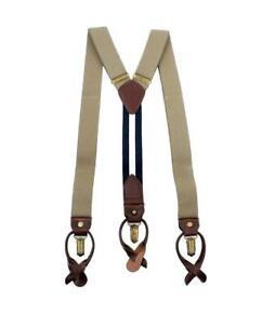 Tommy Hilfiger Men's 32MM Adjustable Clip & Button End Suspenders