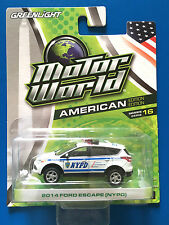 LIMITED EDITION '16 Greenlight NYPD 2014 FORD ESCAPE SUV NEW YORK POLICE DEPT!