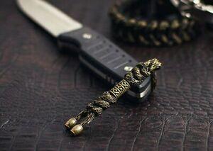 "550 Paracord Knife Lanyard "" Zeus veteran /multi color with metal bead"