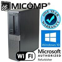 Dell Desktop Computer PC i5 3.2Ghz 4GB RAM 500GB Windows 10 Professional WiFi
