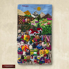 "Quilted wall hangings 17.5"", Peru Applique Design Wall Hanging Andean Folk Art"