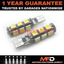 2x Blanco W5w 501 Luz Lateral Matrícula repetidor interior 13smd BOMBILLAS LED