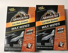 24 Count Armor All Ultra Shine Wax Wipes Fast 1 Step Car Waxing